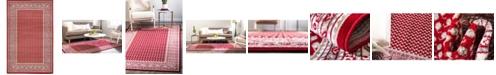Bridgeport Home Axbridge Axb1 Red 5' x 8' Area Rug