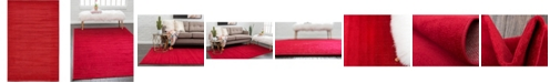 Bridgeport Home Axbridge Axb3 Red 5' x 8' Area Rug