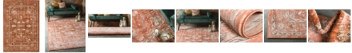Bridgeport Home Masha Mas3 Terracotta 7' x 10' Area Rug
