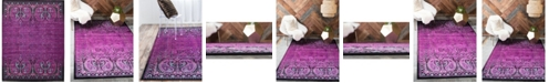 Bridgeport Home Linport Lin6 Lilac 10' x 13' Area Rug