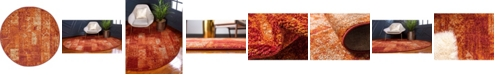 "Bridgeport Home Jasia Jas07 Terracotta 3' 3"" x 3' 3"" Round Area Rug"