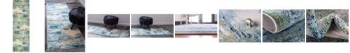 """Bridgeport Home Crisanta Crs7 Light Blue 2' 2"""" x 6' 7"""" Runner Area Rug"""