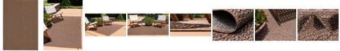 "Bridgeport Home Pashio Pas6 Brown 8' x 11' 4"" Area Rug"