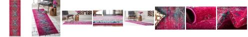 "Bridgeport Home Brio Bri6 Pink 2' x 6' 7"" Runner Area Rug"