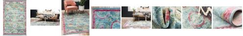 """Bridgeport Home Kenna Ken4 Turquoise 5' 5"""" x 8' Area Rug"""