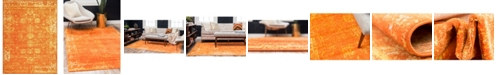 Bridgeport Home Basha Bas1 Orange 8' x 11' Area Rug
