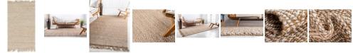 "Bridgeport Home Braided Tones Brt3 Natural/White 3' 3"" x 5' Area Rug"