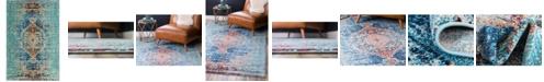 Bridgeport Home Brio Bri6 Turquoise 4' x 6' Area Rug
