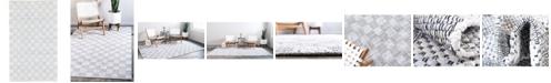 Bridgeport Home Jari Checkered Jar2 Ivory 5' x 8' Area Rug