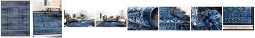 Bridgeport Home Borough Bor4 Blue 8' x 10' Area Rug
