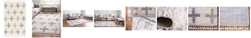 Bridgeport Home Lochcort Shag Loc7 Ivory 4' x 6' Area Rug