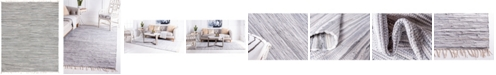 Bridgeport Home Jari Striped Jar1 Gray 8' x 10' Area Rug