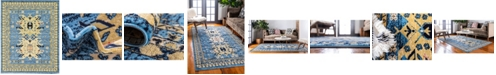 Bridgeport Home Charvi Chr1 Light Blue 8' x 10' Area Rug