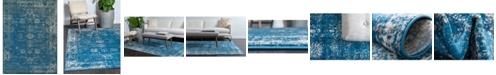 Bridgeport Home Basha Bas1 Blue 9' x 12' Area Rug