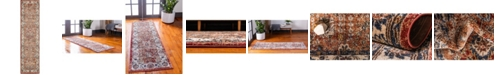 "Bridgeport Home Shangri Shg2 Terracotta 2' 7"" x 10' Runner Area Rug"