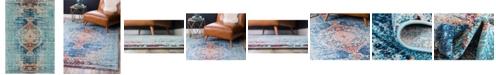 Bridgeport Home Brio Bri6 Turquoise 6' x 9' Area Rug