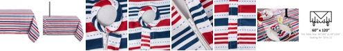 """Design Imports Patriotic Stripe Outdoor Tablecloth with Zipper 60"""" x 120"""""""