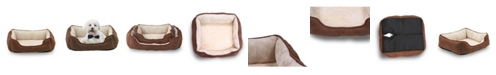 Happycare Textiles Orthopedic Rectangle Bolster Pet Bed Collection