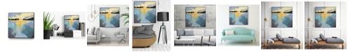 """Giant Art 20"""" x 20"""" Back Bay Sun I Art Block Framed Canvas"""
