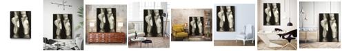 """Giant Art 40"""" x 30"""" Ballet Shoes II Art Block Framed Canvas"""