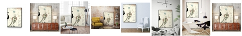 "Giant Art 36"" x 24"" Arte Deco Fashion II Art Block Framed Canvas"