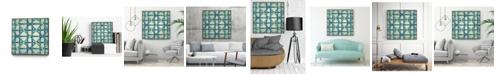 "Giant Art 30"" x 30"" Woven Symmetry I Art Block Framed Canvas"