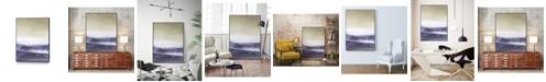 "Giant Art 36"" x 24"" Amethyst Sea II Art Block Framed Canvas"
