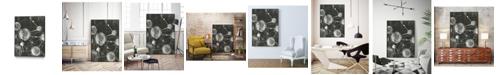 "Giant Art 32"" x 24"" Molecular Fusion I Art Block Framed Canvas"