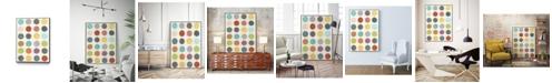 "Giant Art 36"" x 24"" Pattern Interaction III Art Block Framed Canvas"