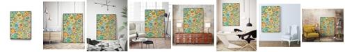 """Giant Art 24"""" x 18"""" Overlapping Ovals I Art Block Framed Canvas"""