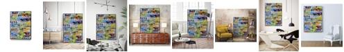 "Giant Art 32"" x 24"" Metro Mix 33 II Art Block Framed Canvas"