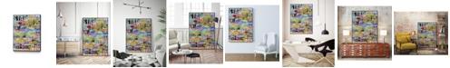 """Giant Art 32"""" x 24"""" Metro Mix 33 I Art Block Framed Canvas"""