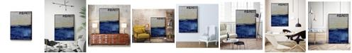 "Giant Art 32"" x 24"" Beach 45 II Art Block Framed Canvas"