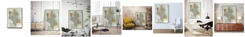"Giant Art 14"" x 11"" Retro Splash III Art Block Framed Canvas"
