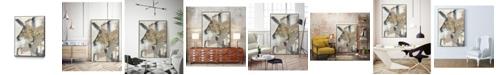 """Giant Art 40"""" x 30"""" Golden Blush I Art Block Framed Canvas"""