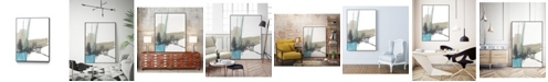 "Giant Art 40"" x 30"" Kinetic Grid IX Art Block Framed Canvas"