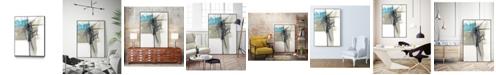 "Giant Art 40"" x 30"" Kinetic Grid I Art Block Framed Canvas"