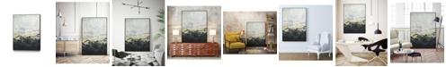 "Giant Art 28"" x 22"" Winter Mountains I Art Block Framed Canvas"