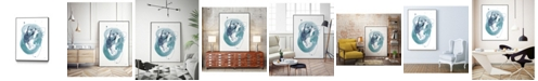 "Giant Art 14"" x 11"" Aqua Orbit IV Art Block Framed Canvas"