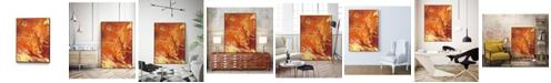 "Giant Art 40"" x 30"" Nomadic Blaze III Art Block Framed Canvas"