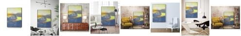 "Giant Art 36"" x 24"" Concord II Art Block Framed Canvas"