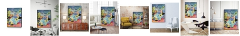 "Giant Art 24"" x 18"" Whimsical Pond III Art Block Framed Canvas"