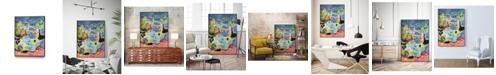 "Giant Art 20"" x 16"" Whimsical Pond III Art Block Framed Canvas"