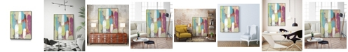 "Giant Art 36"" x 24"" Swatch Layers I Art Block Framed Canvas"