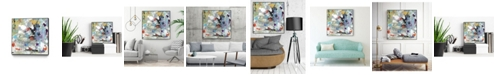 """Giant Art 20"""" x 20"""" Jostle III Art Block Framed Canvas"""