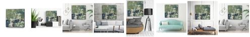 "Giant Art 30"" x 30"" Obscured Horizon II Art Block Framed Canvas"