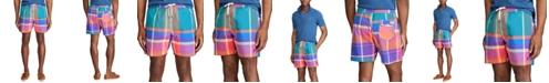 """Polo Ralph Lauren Men's 5.75"""" Inch Plaid Traveler Swim Trunks"""