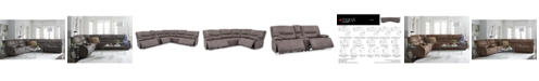Furniture Felyx Fabric Power Reclining Sectional Sofa Collection with Power Headrests, Console And USB Power Outlet