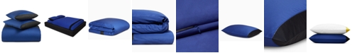 Calvin Klein Joan Cotton 500-Thread Count 3-Pc. Cobalt Queen Duvet Set