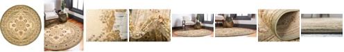 Bridgeport Home Belvoir Blv1 Ivory/Green 8' x 8' Round Area Rug